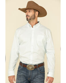 Cody James Core Men's Sun Ways Geo Print Long Sleeve Western Shirt , Light Blue, hi-res