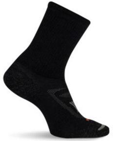 Merrell Men's Zoned Crew Socks, Black, hi-res