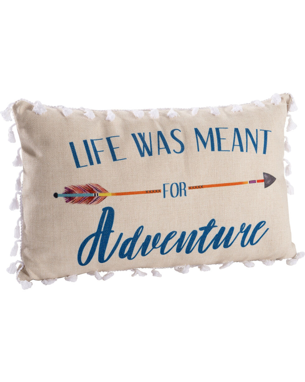 BB Ranch Life Was Meant For Adventure Throw Pillow, Multi, hi-res
