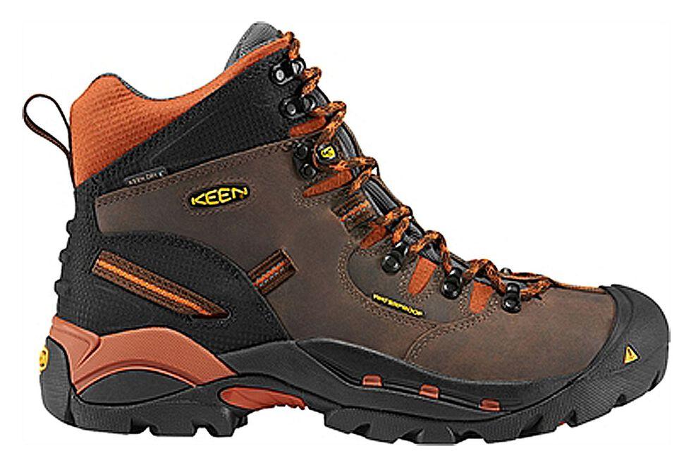 Keen Men's Pittsburgh Mid Waterproof Boots, Brown, hi-res