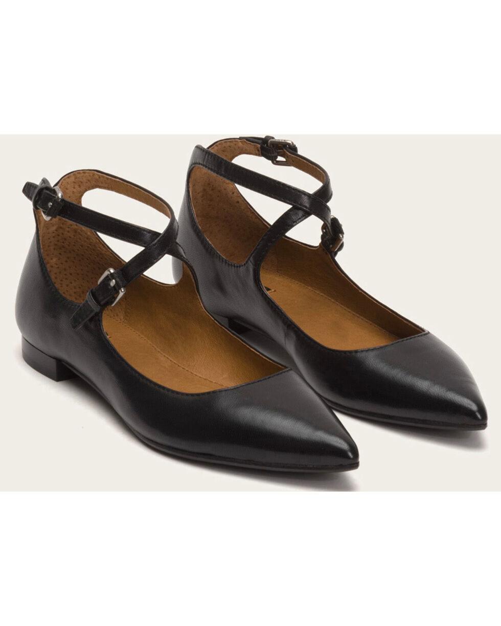 Frye Women's Sienna Cross Ballet Shoes - Pointed Toe , Black, hi-res