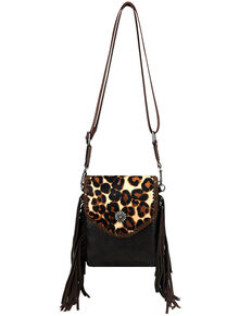 Montana West Women's Leopard Crossbody Bag, Coffee, hi-res