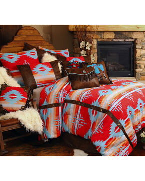 Carstens Red Branch Queen Bedding - 5 Piece Set, Red, hi-res