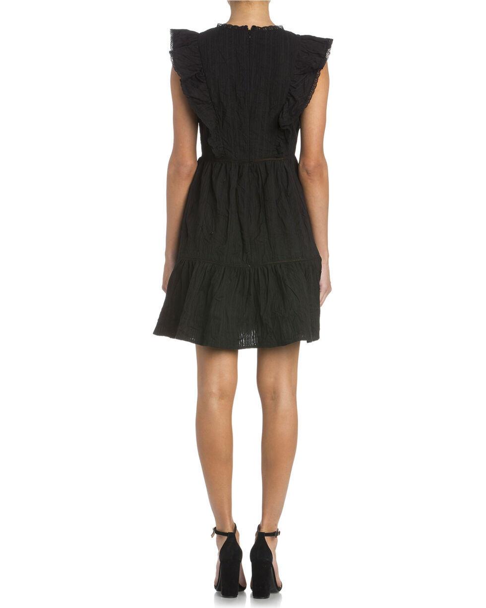 Miss Me Women's Ready To Ruffle Dress , Black, hi-res