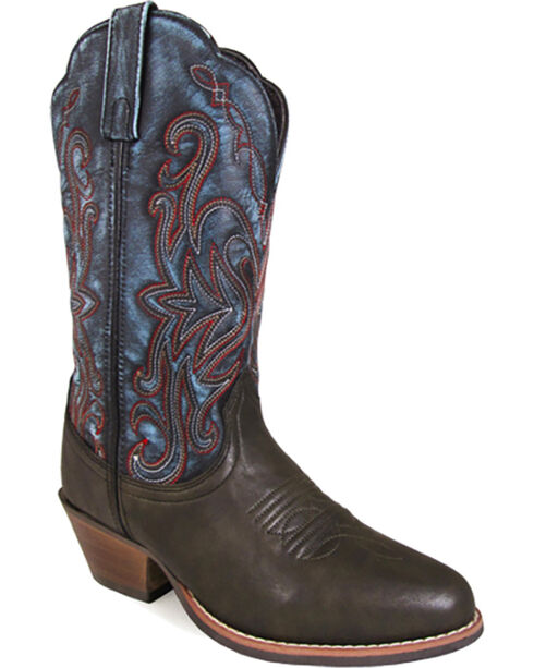 Smoky Mountain Women's Fusion #1 Western Boots - Round Toe , Brown, hi-res