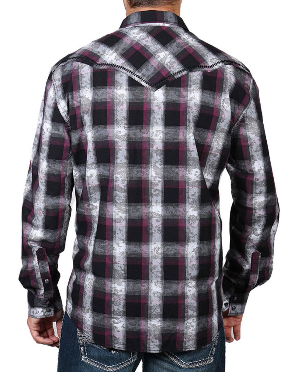Moonshine Spirit Men's Paisley Plaid Long Sleeve Shirt , Multi, hi-res