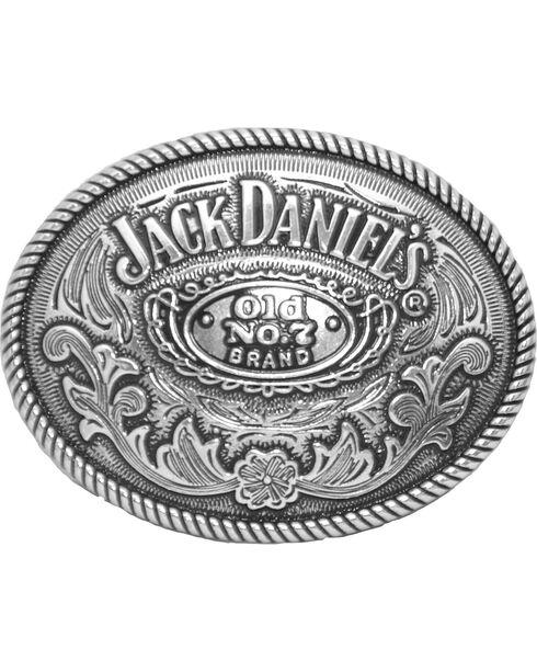 Western Express Men's Silver Jack Daniels Old No 7 Belt Buckle , Silver, hi-res