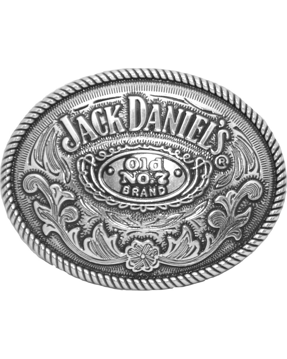 Western Express Men's Silver Jack Daniels Old No 7 Belt Buckle , Silver, hi-res