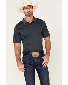 Cody James Core Men's Black Burmuda Heather Short Sleeve Polo Shirt , Black, hi-res