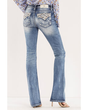 Miss Me Women's Blue Such A Gem Mid-Rise Jeans - Boot Cut , Blue, hi-res