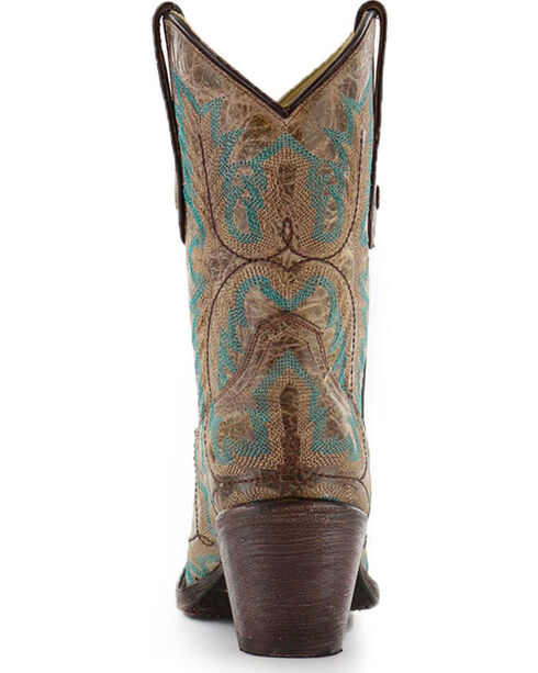 """Corral Women's 9"""" Stitched Fashion Western Boots - Snip Toe, Brown, hi-res"""
