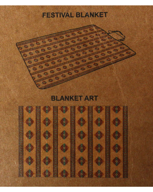 BB Ranch Southwest Print Festival Blanket , No Color, hi-res