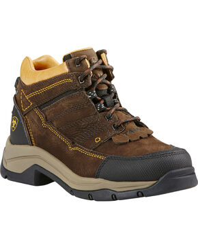 Ariat Women's Java Terrain Pro H20 Boots - Round Toe, Coffee, hi-res