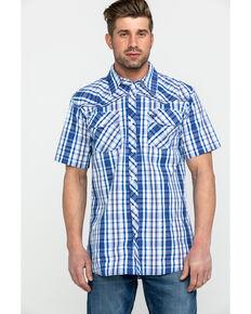 29af9b7459c Cowboy Hardware Mens Triple Plaid Short Sleeve Western Shirt