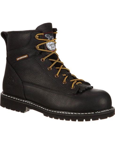 Georgia Men's Waterproof Work Boots - Steel Toe, Black, hi-res