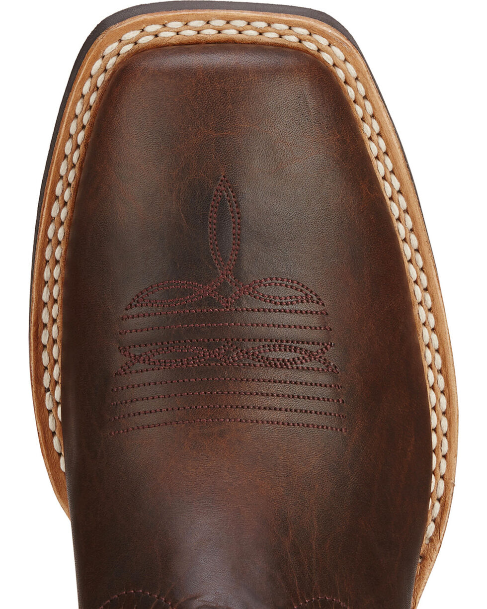 Ariat Quickdraw Cowboy Boots - Square Toe, Brown, hi-res