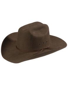 M&F Western Kids' Wool Felt Cattleman Cowboy Hat, Brown, hi-res