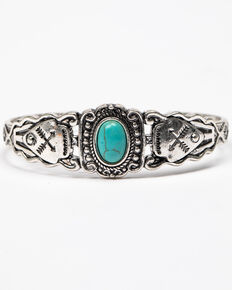 Shyanne Women's Roaming West Small Silver Cuff, Silver, hi-res