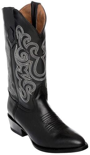Ferrini Men's French Calf Leather Cowboy Boots - Medium Toe, Black, hi-res