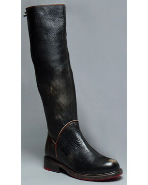 Bed Stu Women's Black Manchester Tall Boots - Round Toe , Black, hi-res