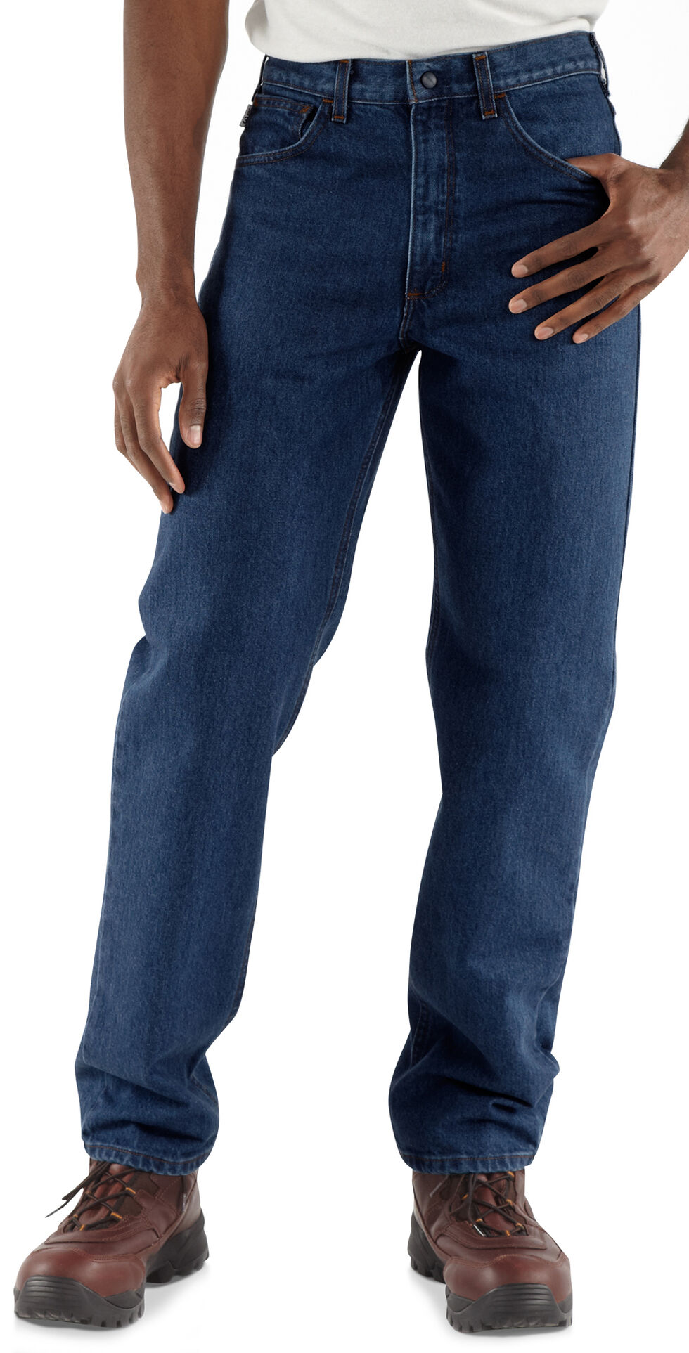 Carhartt Flame Resistant Relaxed Fit Jeans, Denim, hi-res