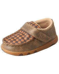 Twisted X Infant Boys' Driving Moc Shoes - Moc Toe, Brown, hi-res