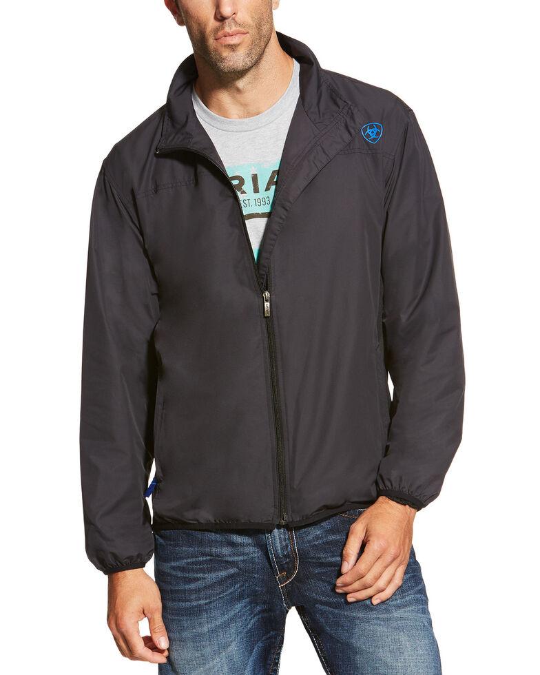 Ariat Men's Black Ideal Windbreaker Jacket, Black, hi-res