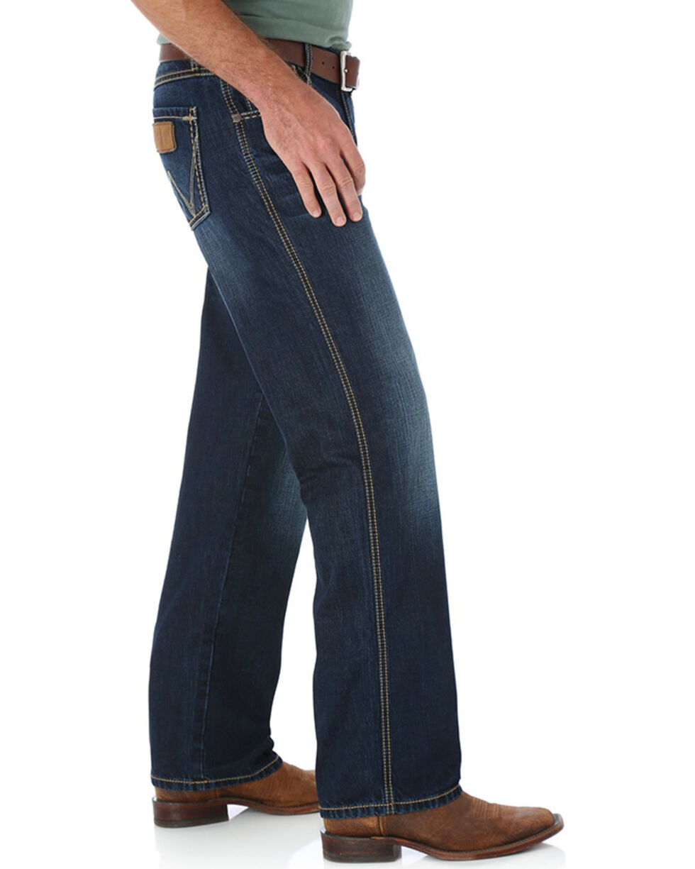 Wrangler Retro Men's Relaxed Straight Leg Jeans, Blue, hi-res