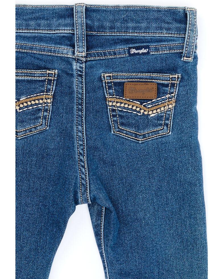 Wrangler Infant Boys' Dark Wash Denim Stretch Bootcut Jeans , Blue, hi-res