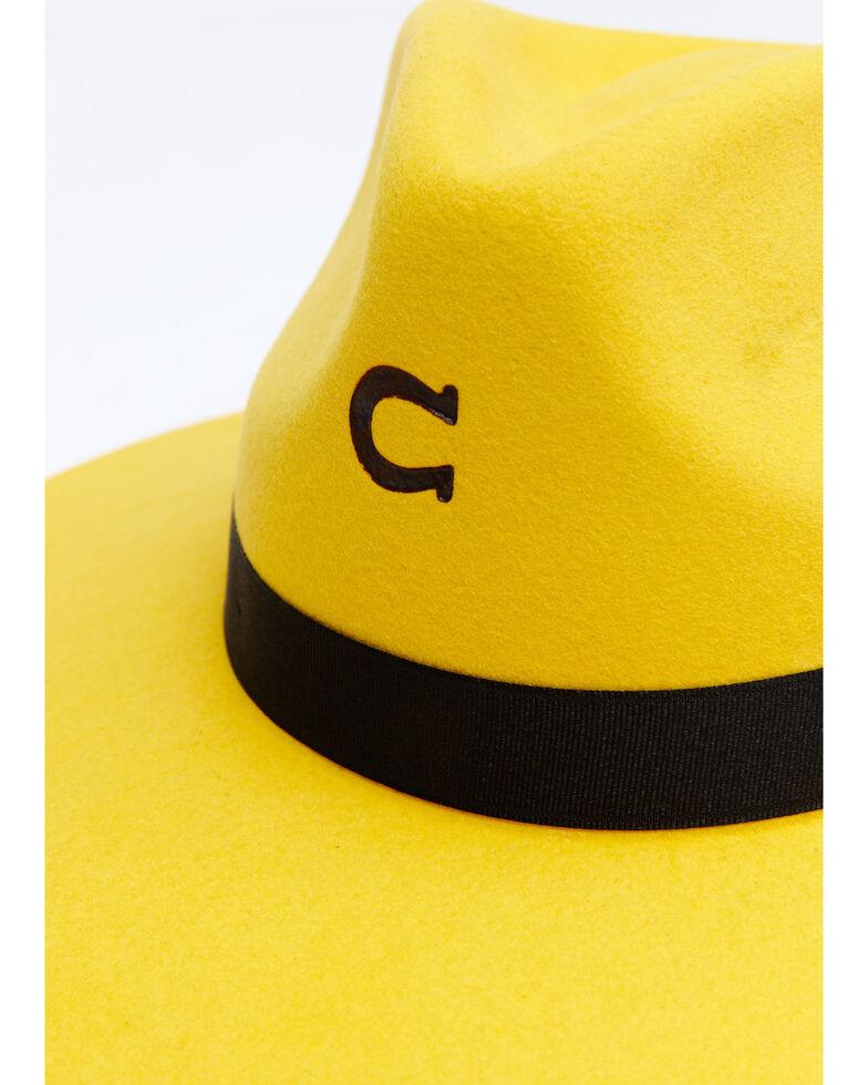 Charlie 1 Horse Women's Yellow Highway Wool Felt Western Hat , Yellow, hi-res