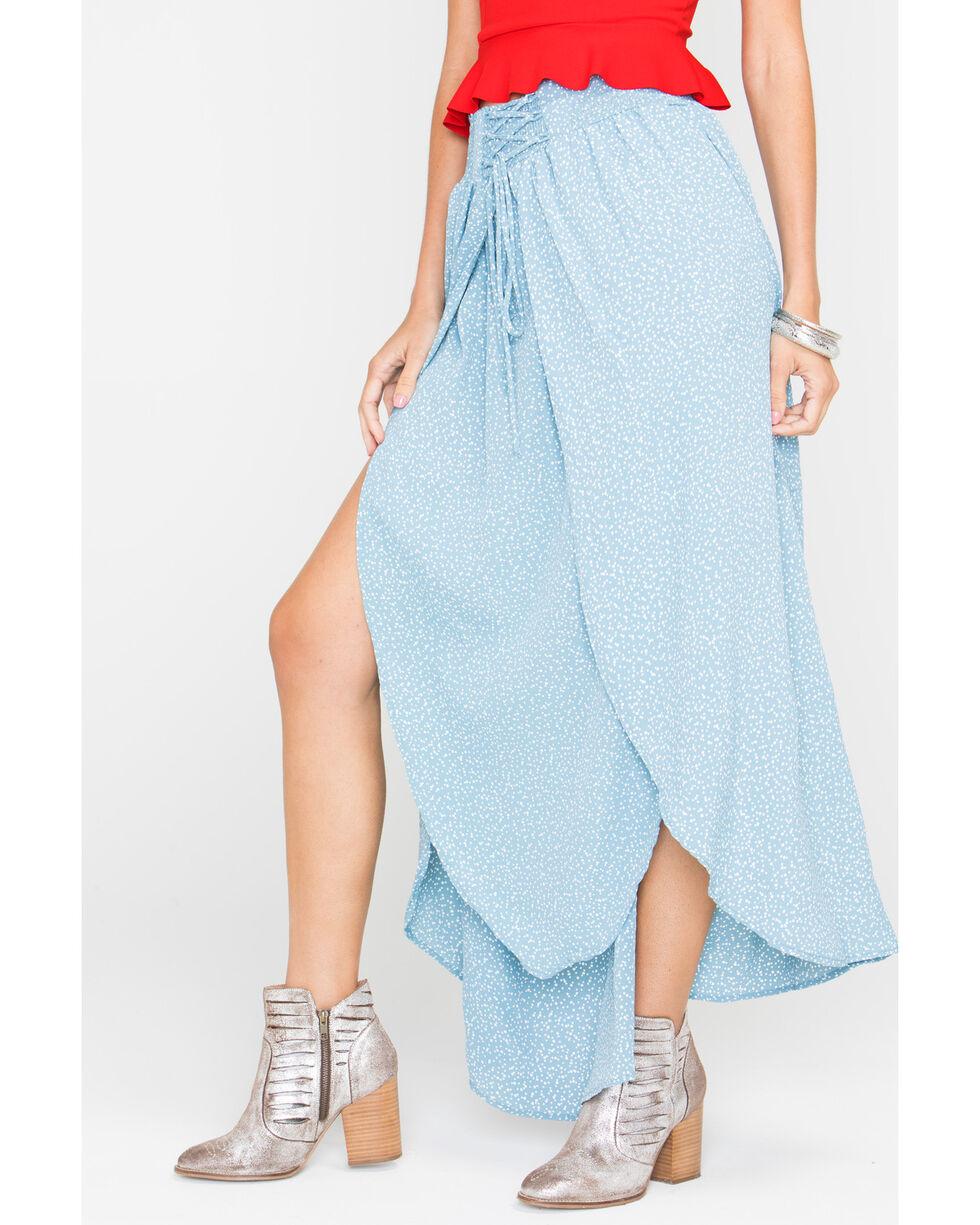 Sage the Label Women's Blue Keep Her Wild Maxi Skirt, Light Blue, hi-res