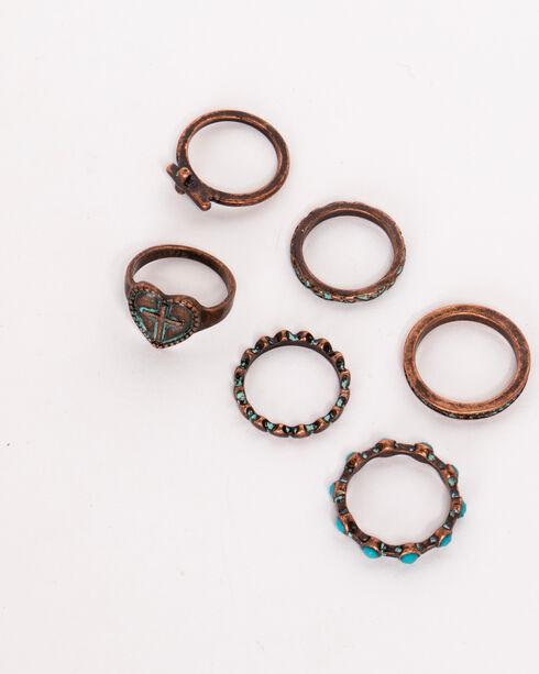 Shyanne Women's La Rosita Multi Ring Set, Turquoise, hi-res