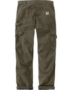 Carhartt Men's Green Flannel Lined Ripstop Cargo Pants - Straight Leg , Moss Green, hi-res