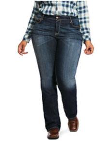 Ariat Women's Williow R.E.A.L. Remi Bootcut Jeans - Plus, Blue, hi-res