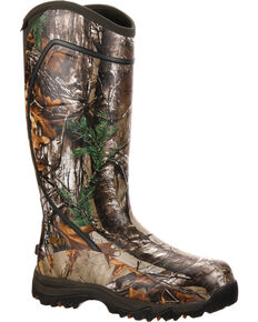 Rocky Core Waterproof Insulated Rubber Outdoor Boots, Camouflage, hi-res