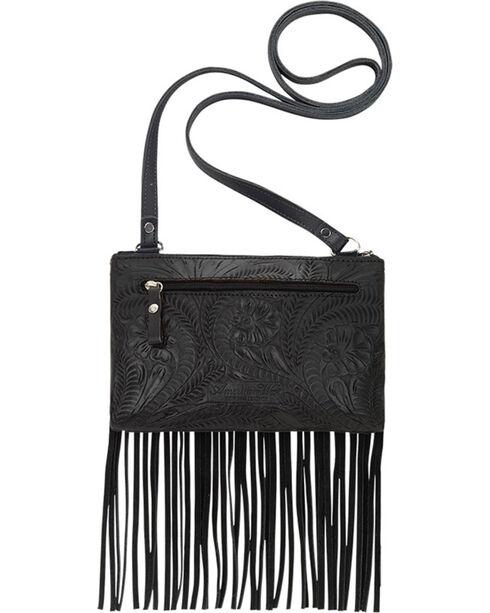 Shyanne Women's Black Fringe Crossbody Bag, Black, hi-res