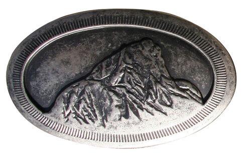 Mountain Khakis Teton Belt Buckle, Dark Grey, hi-res