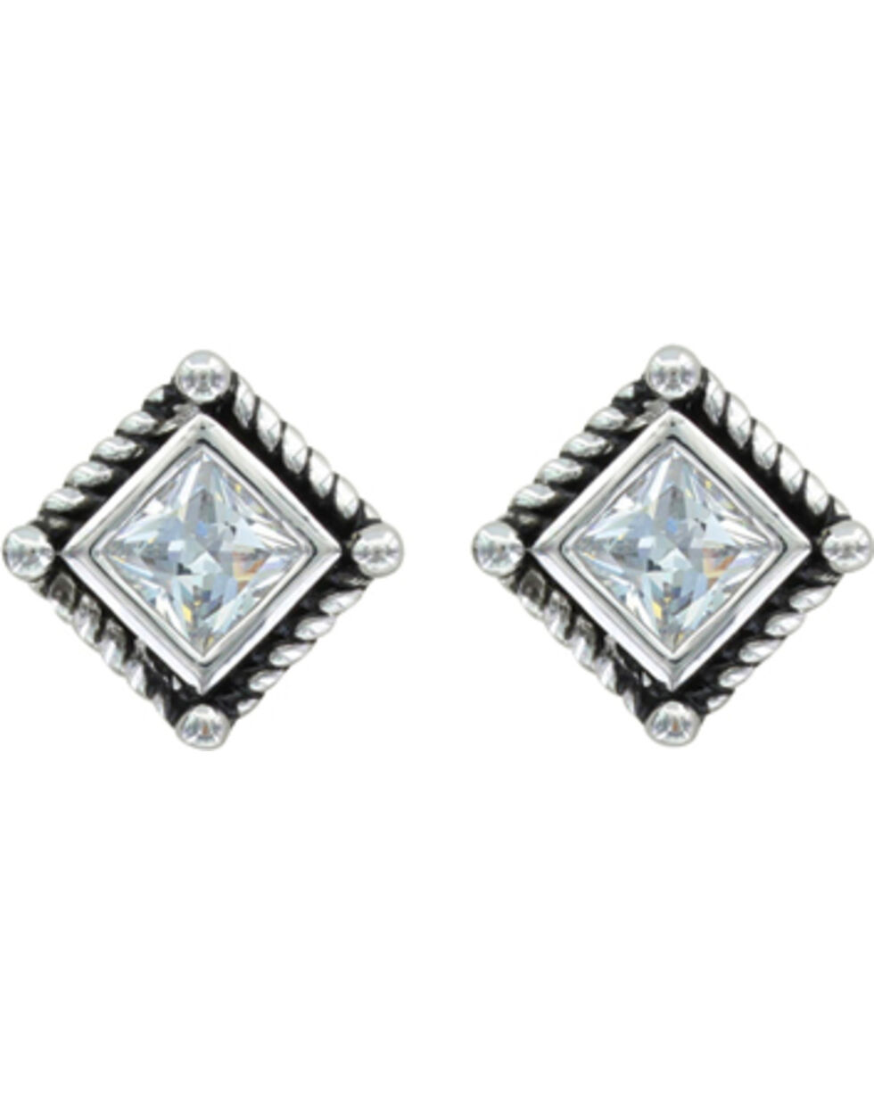 Montana Silversmiths Roped Starlight Earrings, Silver, hi-res