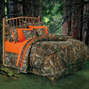 HiEnd Accents Realtree Camo Twin Size Comforter Set, Multi, hi-res