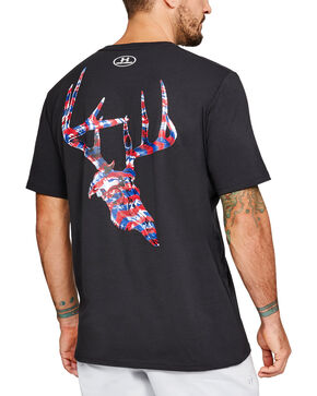 Under Armour Men's UA AF Whitetail Skull Short Sleeve T-Shirt, Black, hi-res