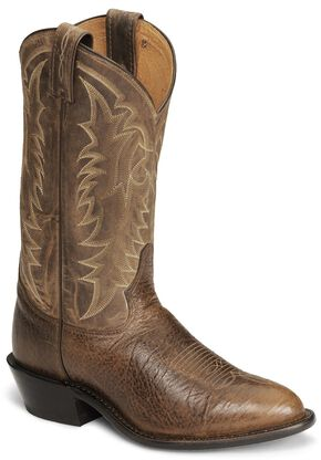 "Tony Lama 12"" Conquistador Shoulder Boot - Medium Toe, Cognac, hi-res"