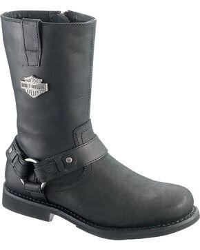 Harley Davidson Josh Harness Boots - Round Toe, Black, hi-res