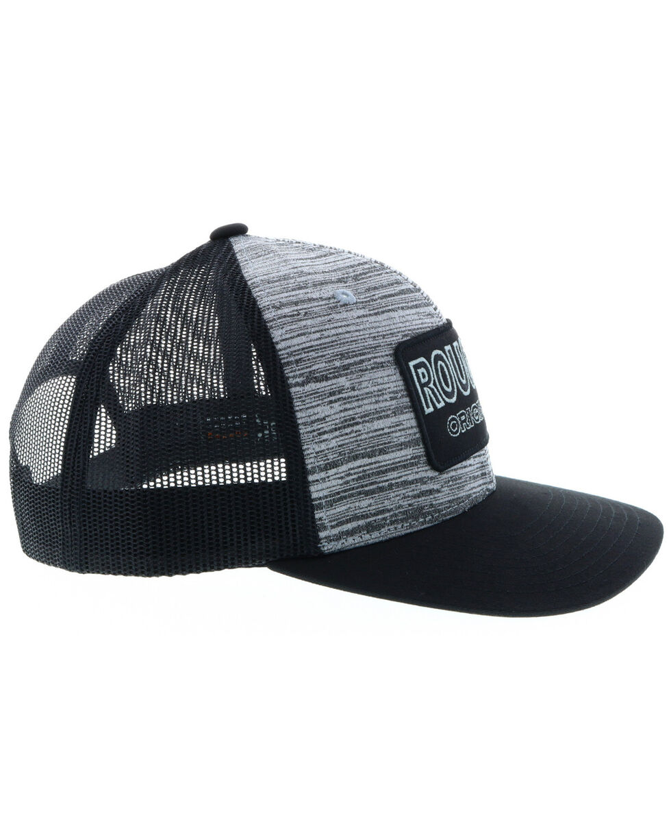 HOOey Men's Grey Roughy Patch Trucker Cap , Black, hi-res