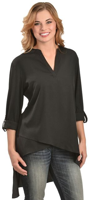 Red Ranch Women's Black High-Low Tunic, Black, hi-res