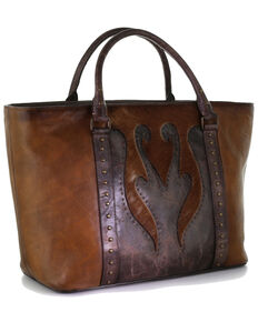 Corral Women's Shedron Studs & Overlay Purse, Brown, hi-res