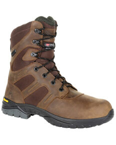 Rocky Men's Deerstalker Waterproof Outdoor Boots - Soft Toe, Brown, hi-res