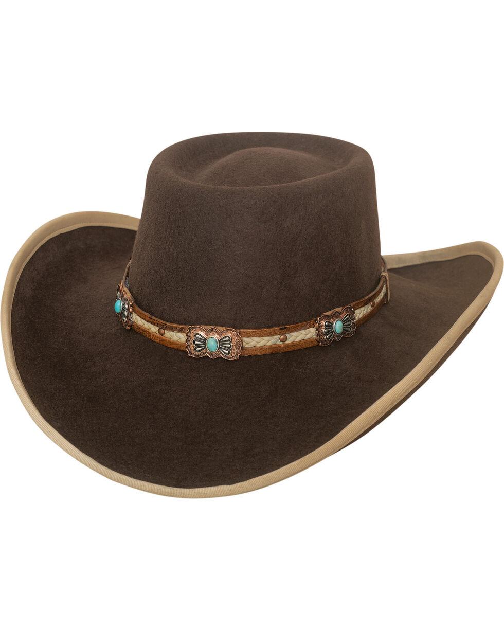 Bullhide Women's Mind Reader Premium Wool Hat , Chocolate, hi-res