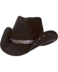 8ac941db5257c Master Hatters Women s Black Star Crushable Fashion Wool Hat