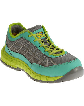 Caterpillar Women's Green Connexion Work Shoes - Steel Toe , Green, hi-res
