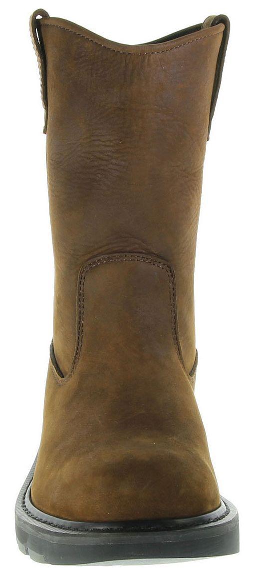 cheap slip on steel toe boots